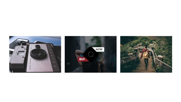 IMAGE HOVER EFFECT WITH ICON AND SPLIT CAPTION