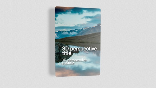 3D PERSPECTIVE CARD XY