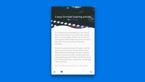 ARTICLE CARD UI – READ MORE CSS ANIMATION