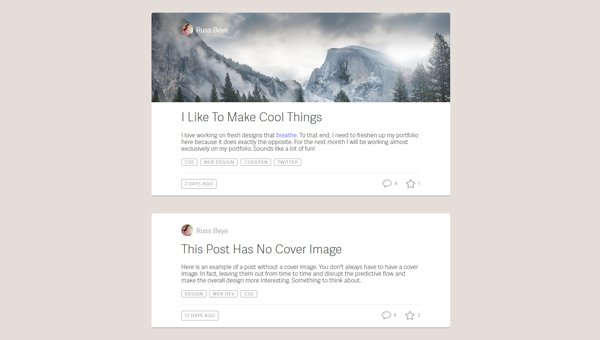 BLOG ENTRY LAYOUTS