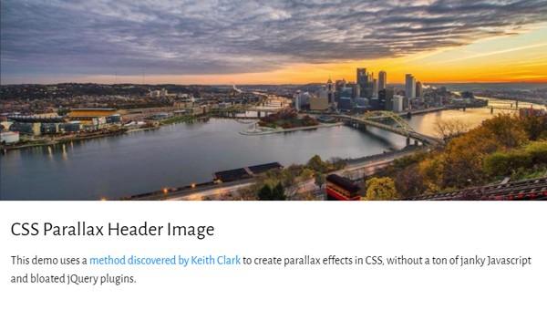CSS PARALLAX HEADER IMAGE
