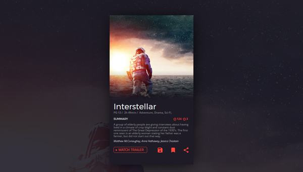 DAILY UI MOVIE CARD