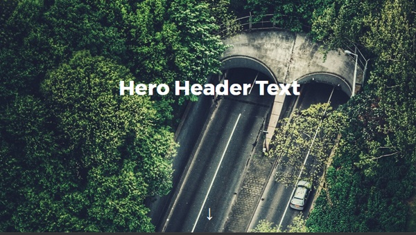 FLEXBOX HERO HEADER