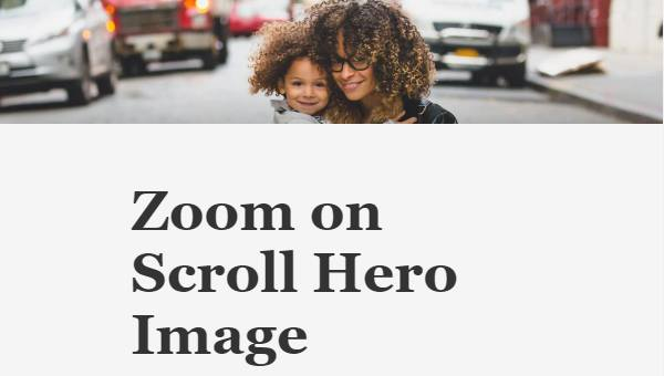 HERO ZOOM ON SCROLL