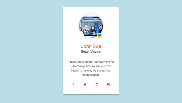 MATERIAL DESIGN: PROFILE CARD