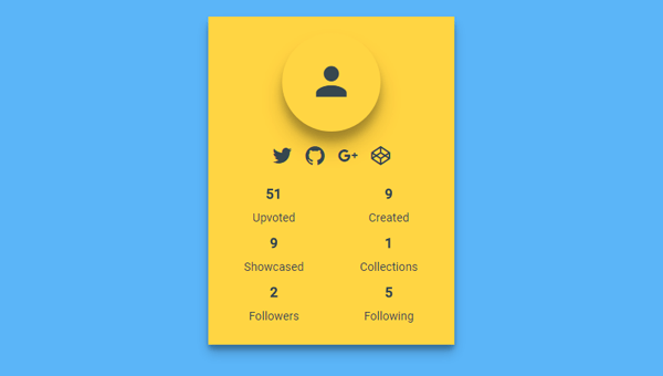 MATERIALUP PROFILE CARD