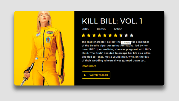 MOVIE CARD INTERACTIVE UI