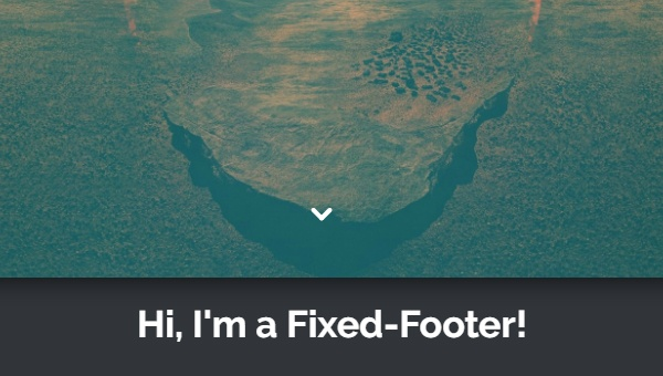 SIMPLE FIXED FOOTER