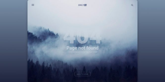 404 PAGE UI