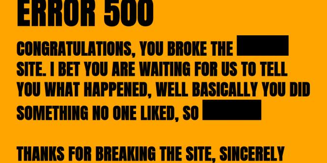 ERROR 500 MESSAGE