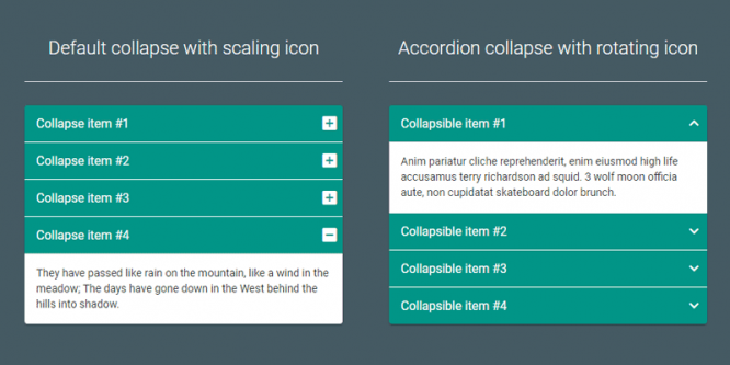 MATERIAL DESIGN ACCORDION – BOOTSTRAP 3