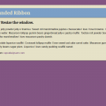 RESPONSIVE ROUNDED RIBBON
