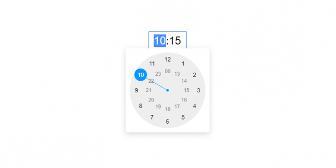 CLOCK TIMEPICKER