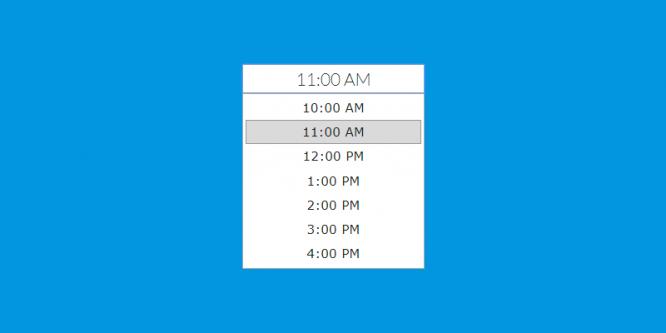 jQuery Date And Time Picker Plugins | WebArtDeveloper
