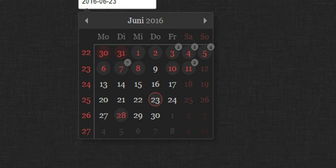 TINYDATEPICKER AND CALENDAR