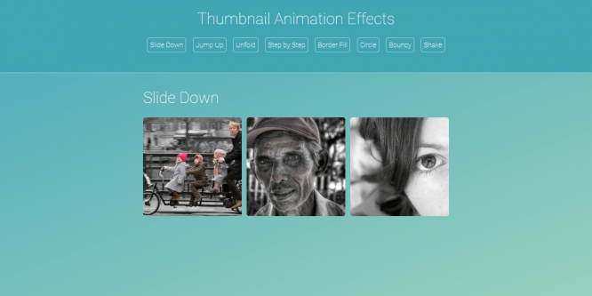 THUMBNAIL ANIMATION EFFECTS