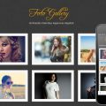 Foto Gallery website template and mobile web template