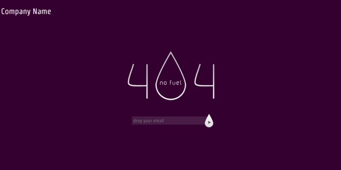 Fuel 404 page not found web and mobile