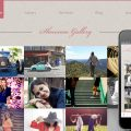 Photo showcase gallery web and mobile template