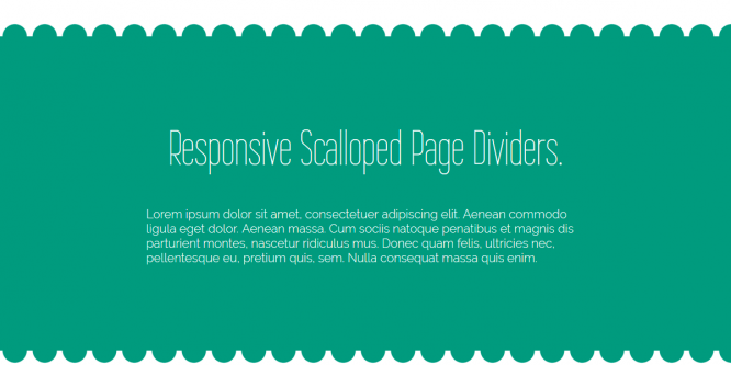 RESPONSIVE SCALLOPED PAGE DIVIDERS