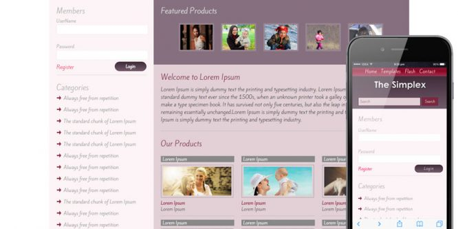 The Simplex gallery web template