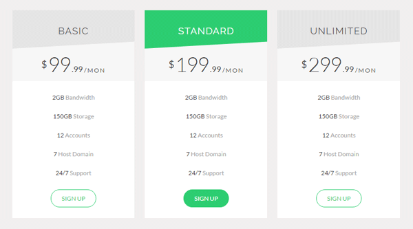HTML AND CSS PRICING TABLE