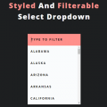 CSS STYLED AND FILTERABLE SELECT DROPDOWN