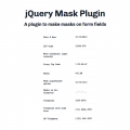 JQUERY MASK PLUGIN