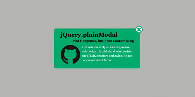 JQUERY-PLAINMODAL