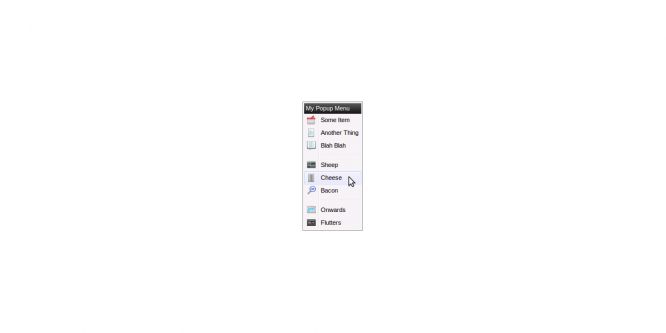 CONTEXT MENU FOR JQUERY