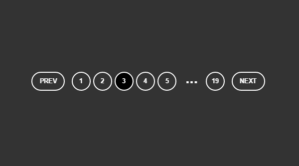 PAGINATION WITH HTML & CSS