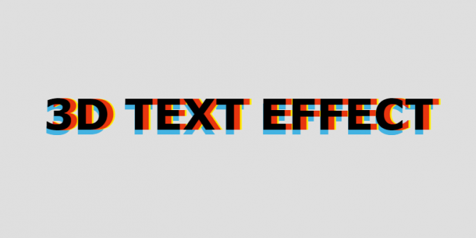 3D TEXT EFFECT – MOUSEMOVE