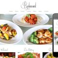 Floral Restaurant web template and mobile web template for hotels