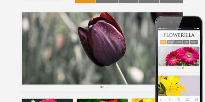 Flowerilla gallery web template and mobile web template