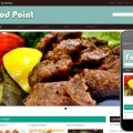 Food Point Web template and mobile website template