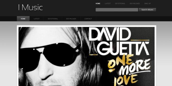 I Music Audio Albums Gallery Website Template