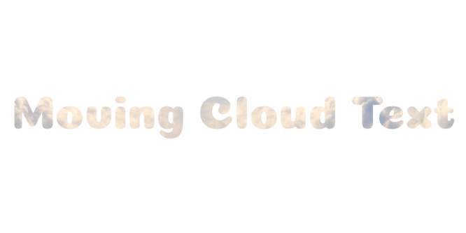 MOVING CLOUD TEXT