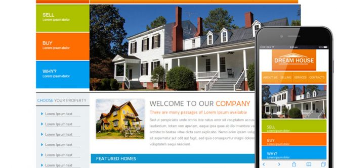 New Dream House webtemplate and mobile webtemplate