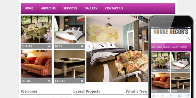 New House Decors Interior web template and mobile website template
