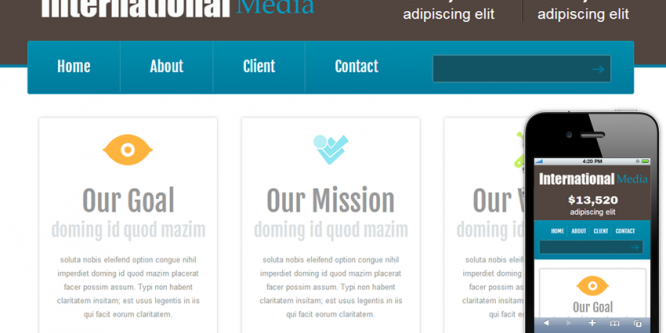 New International Media web and Mobile website template