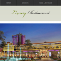 New Luxury Restaurant web template and mobile website template for Hotels and Restaurants
