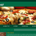 Pizza Hut web template and mobile website template for food corners