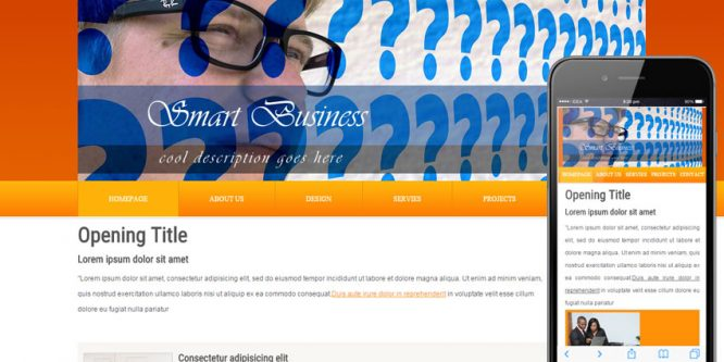 Smart Business Webtemplate and Mobile Webtemplate for companies