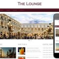 The Lounge Hotel web Template and Mobile web template