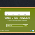 Wood Frame Under Construction web and mobile website template