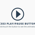 CSS3 PLAY/PAUSE BUTTON