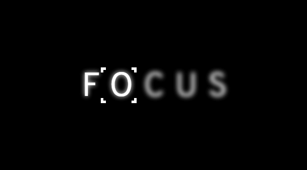 FOCUS TEXT HOVER EFFECT