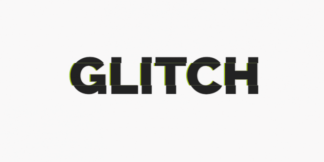 GLITCHED TEXT