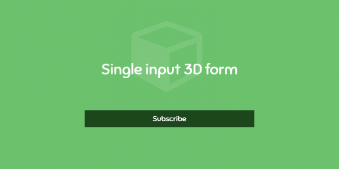 SINGLE INPUT 3D FORM