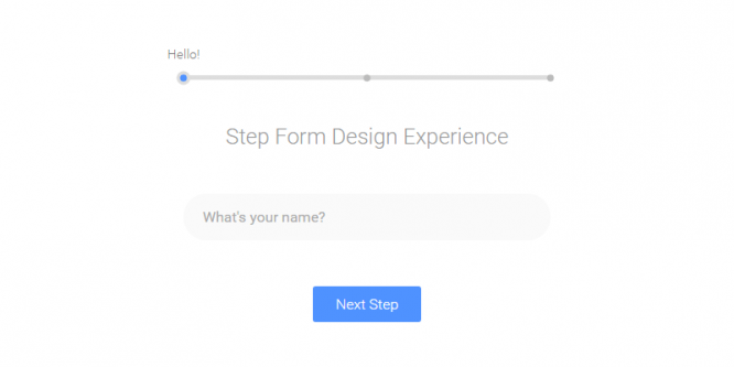 STEP BY STEP FORM INTERACTION